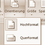 Hochformat und Querformat in Word gemeinsam nutzen