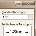 Tabstopp in Microsoft Word Dokumenten ändern
