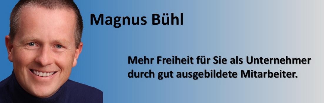 Magnus Bühl - mehr Freiheit für Unternehmer