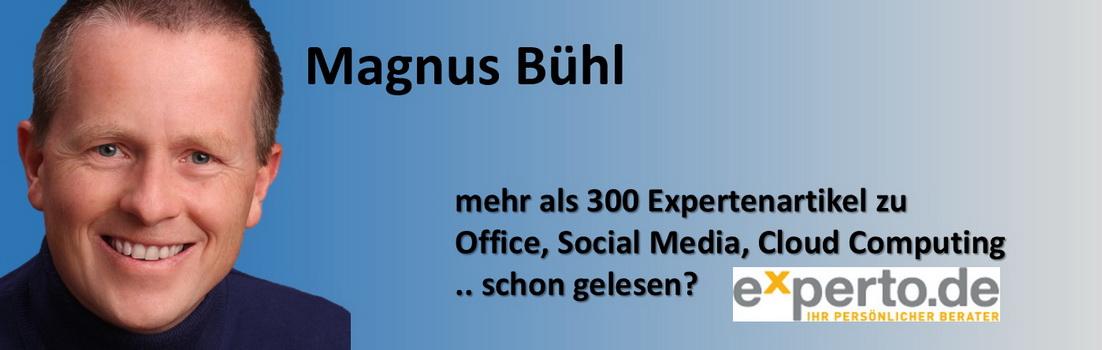 Magnus Bühl - Microsoft Office Specialist - 300 Expertenartikel