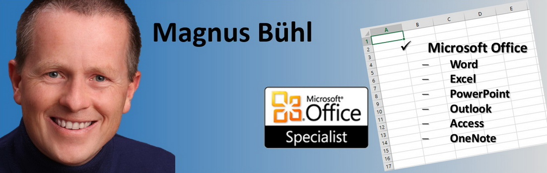 Magnus Bühl - Microsoft Office Specialist