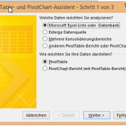 PivotTabellen Assistent mit Excel 2010 und 2013 nutzen