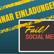 Webinar Einladungen im Quadrat - Social Media Fail