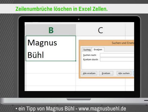 Microsoft Excel Zeilenumbruch entfernen